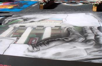 SRHS Entry at San Rafael Italian Street Painting Festival